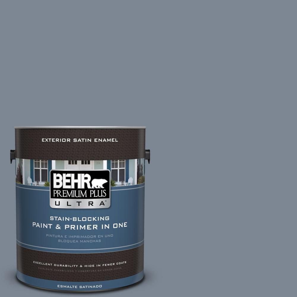 BEHR Premium Plus Ultra 1-gal. #PPU14-5 Forever Denim Satin Enamel Exterior Paint