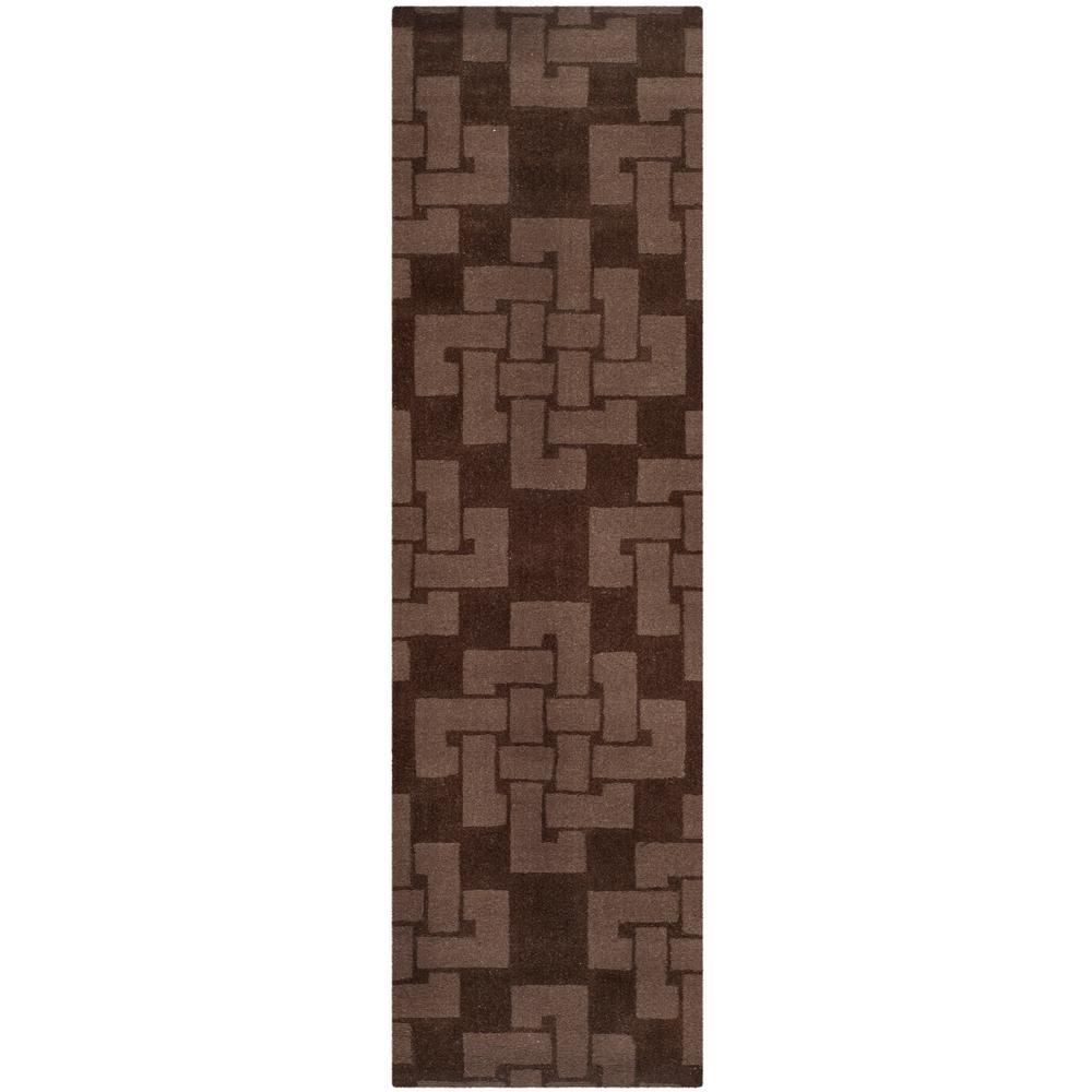 Martha Stewart Chocolate Truffle 2 ft. x 8 ft. Runner Rug