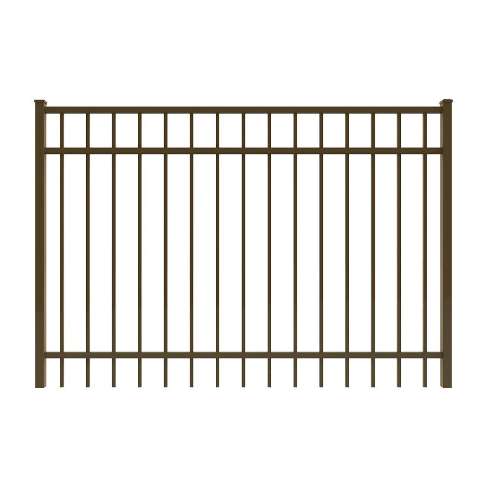 Vinings 6 ft. W x 4 ft. H Bronze Aluminum Pre-Assembled