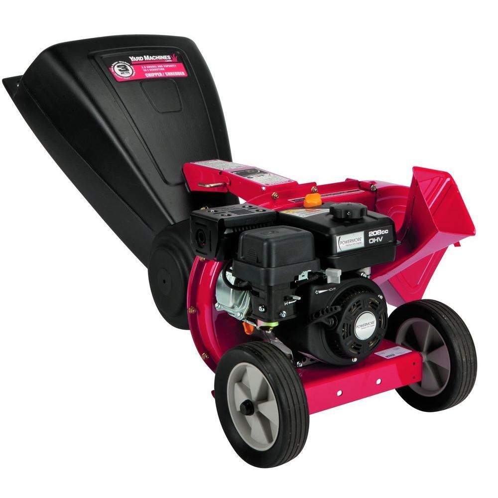 Yard Machines 2 in. 208 cc Tip-Down 3-in-1 Gas Chipper Shredder