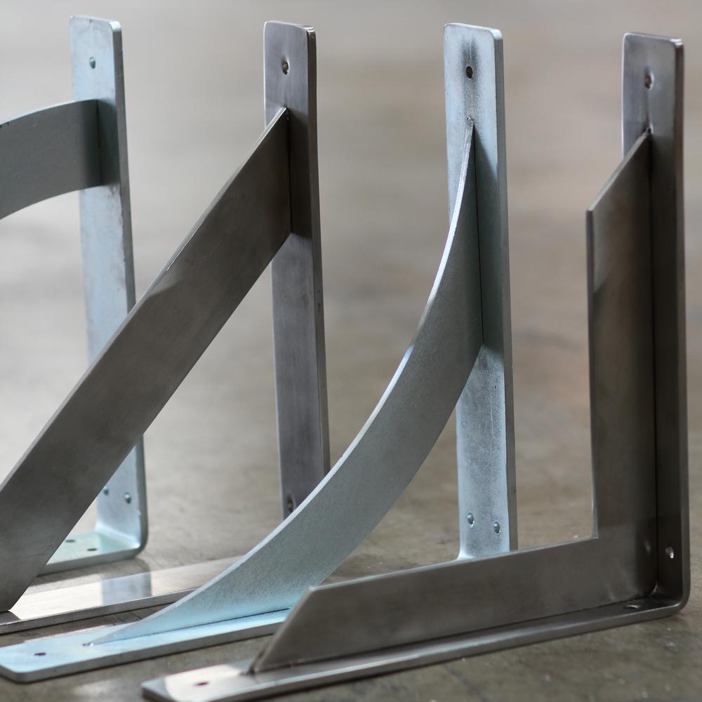 Ekena Millwork BKTM02X08X08TRCRS  2-Inch W x 8-Inch D x 8-Inch H Traditional Bracket Steel