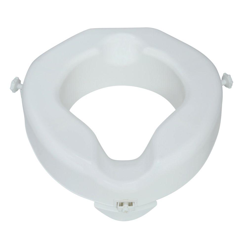 Enjoyable Carex Health Brands Safe Lock Raised Elevated Toilet Seat In White Short Links Chair Design For Home Short Linksinfo