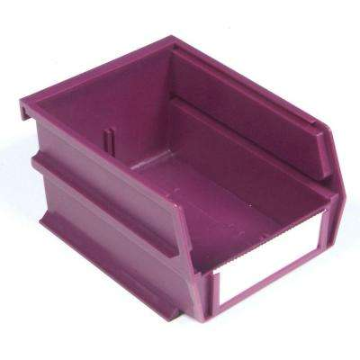 LocBin 5-3/8 in. x 4-1/8 in. x 3 in. Stacking, Hanging, Interlocking Polypropylene Bin in Raspberry (24-Piece)