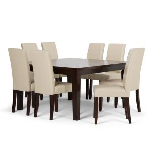 Swell Simpli Home Acadian 9 Piece Dining Set With 8 Upholstered Beatyapartments Chair Design Images Beatyapartmentscom