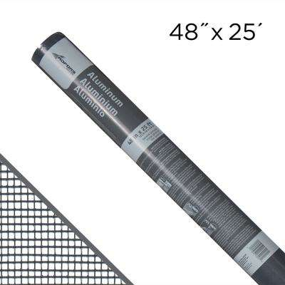 48 in. x 25 ft. Charcoal Aluminum Insect Screen