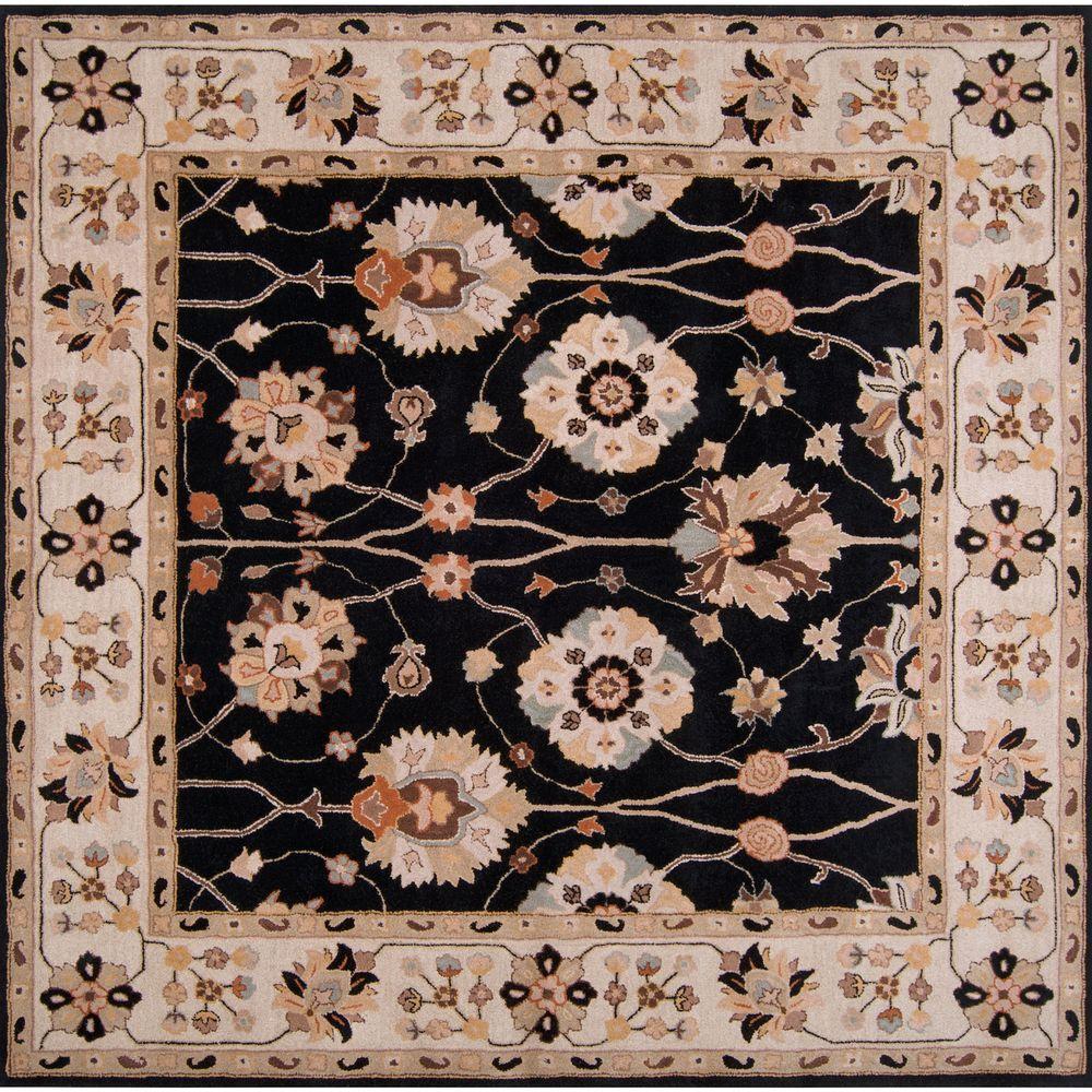 Artistic Weavers John Black 8 ft. Square Area Rug