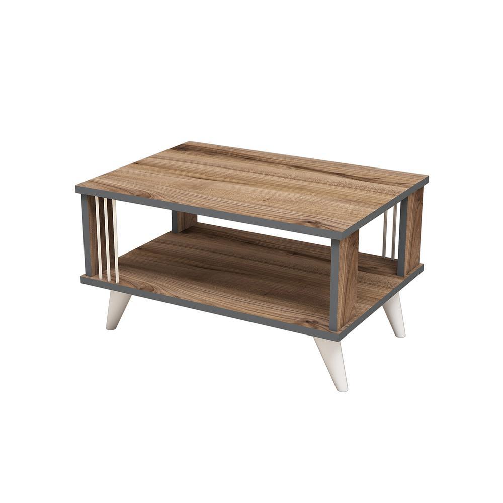 Ada Home Decor Salem Walnut Modern Coffee Table MNRC3012