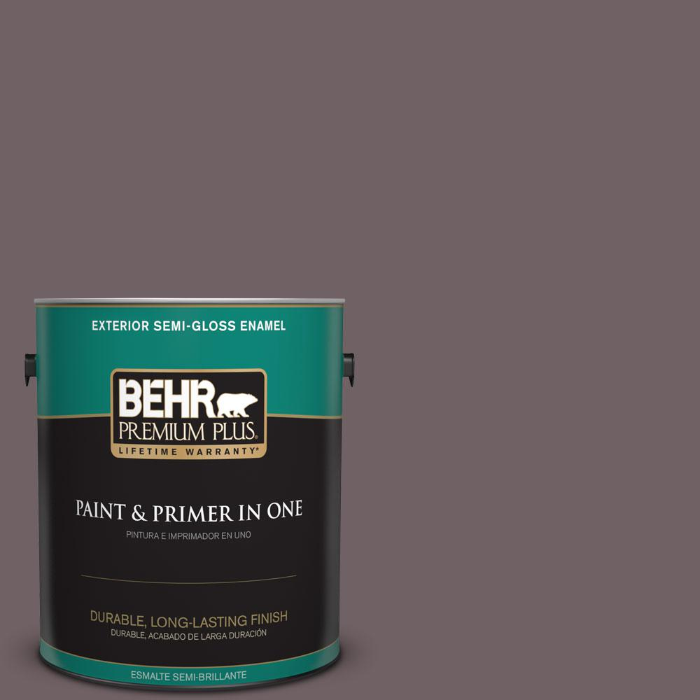 1-gal. #N110-6 Dignified Purple Semi-Gloss Enamel Exterior Paint
