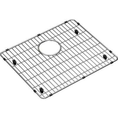 Crosstown 17.375 in. x 14.375 in. Bottom Grid for Kitchen Sink in Stainless Steel