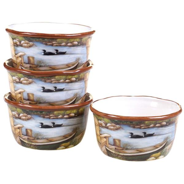 Certified International Lake Life Ice Cream and Cereal Bowl (Set of 4)