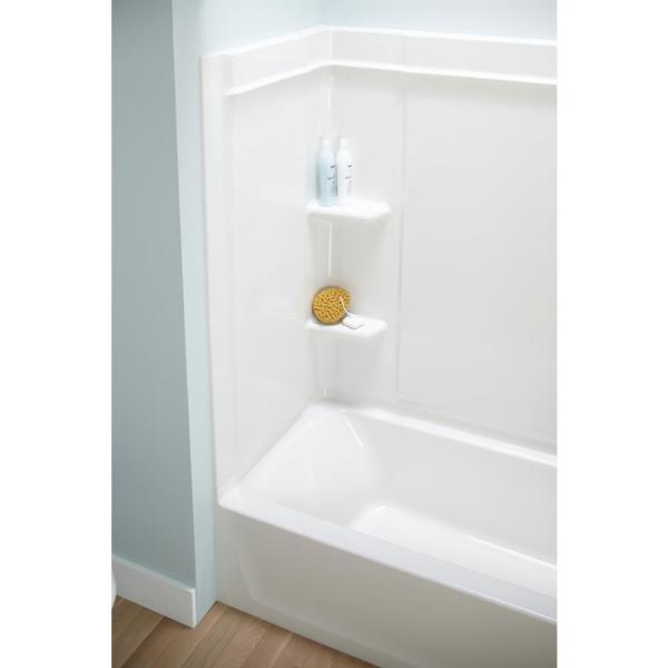 STERLING 71374100-0 Ensemble 60-Inch x 30-Inch Vikrell 3-Piece Shower Wall White