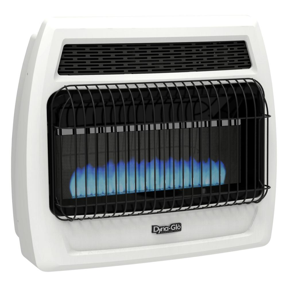 30000 BTU Natural Gas Blue Flame Vent Free Thermostatic Wall Heater