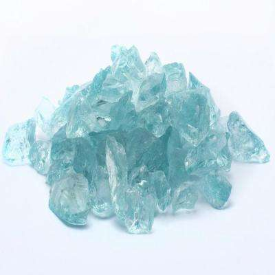 10 lbs. Large Crystal Teal Fire Glass