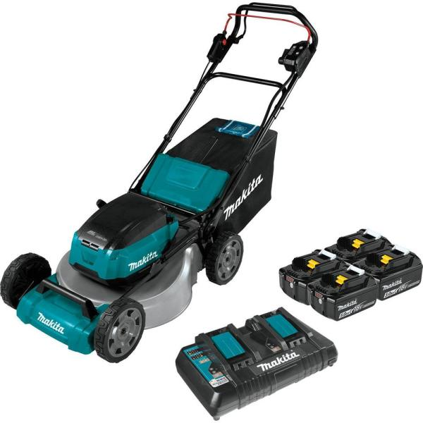 18 in. 18-Volt X2 (36-Volt) LXT Lithium-Ion Cordless Walk Behind Self Propelled Lawn Mower Kit with 4 Batteries (5.0 Ah)