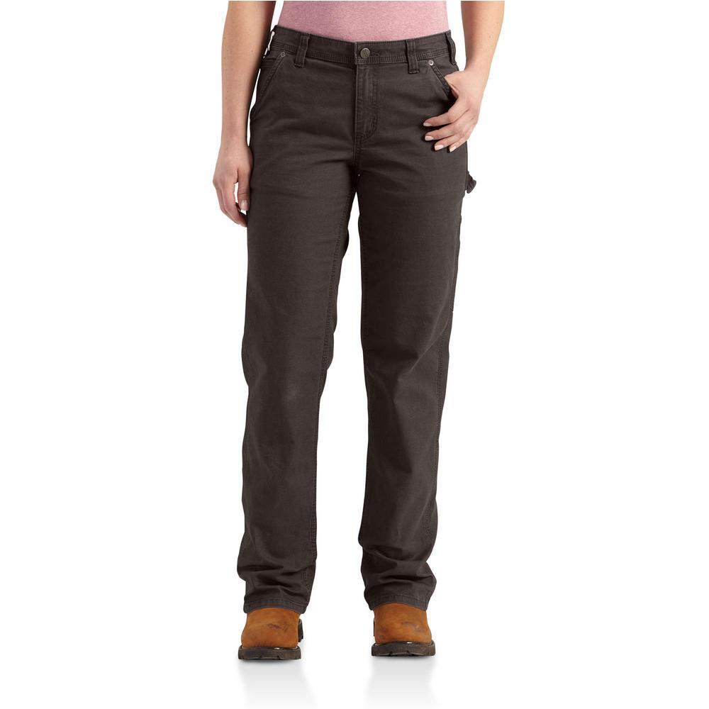 Carhartt Women S 12 Dark Brown Cotton Spandex Original Fit Crawford Pant 102080 201 The Home Depot The best gifs are on giphy. the home depot