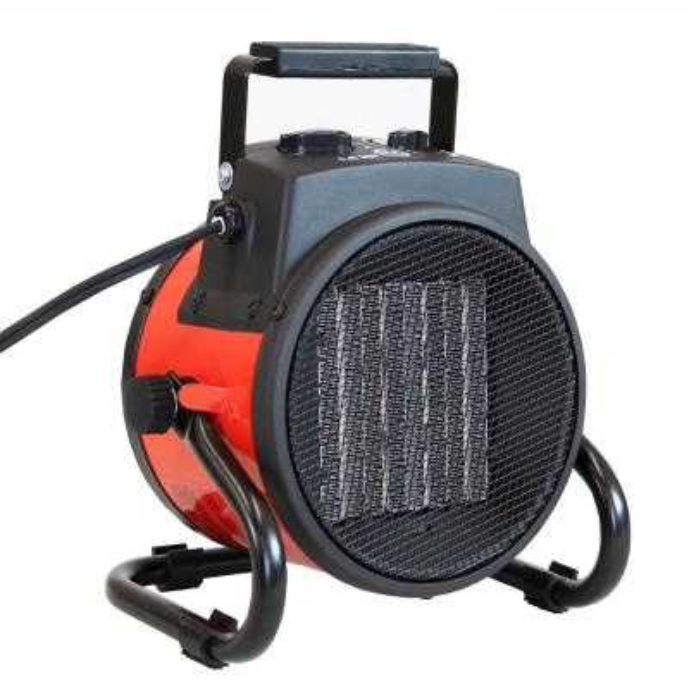 750-Watt/1500-Watt Electric Portable Ceramic Space Heater with Folding Handle
