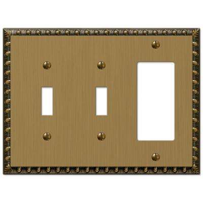 Renaissance 2 Toggle and 1 Decora Wall Plate - Brushed Brass