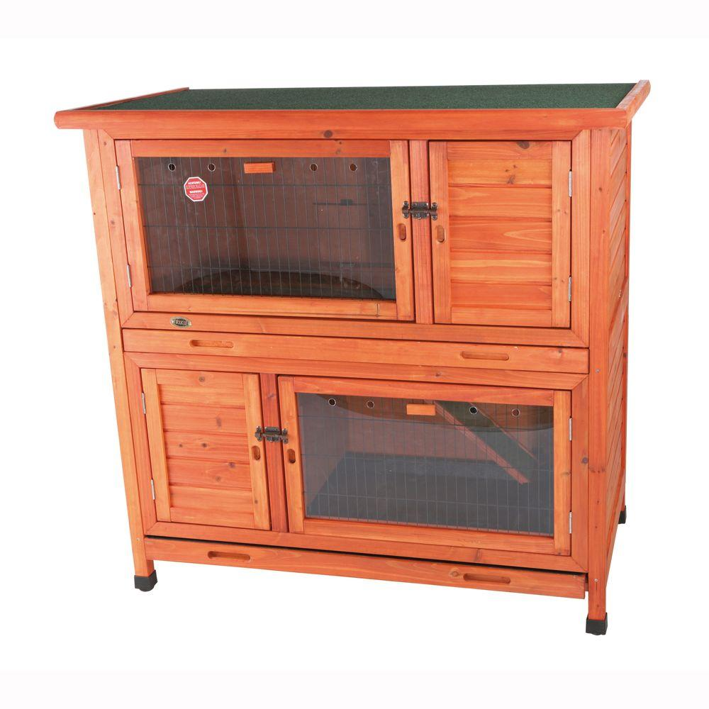 TRIXIE 3.8 ft. x 2.1 ft. x 3.7 ft. 2-in-1 Rabbit Enclosure with Insulation Hutch