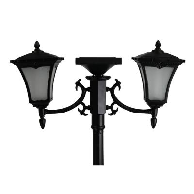 Vittoria 2-Light Outdoor Black Integrated LED Solar Lamp Post and Planter