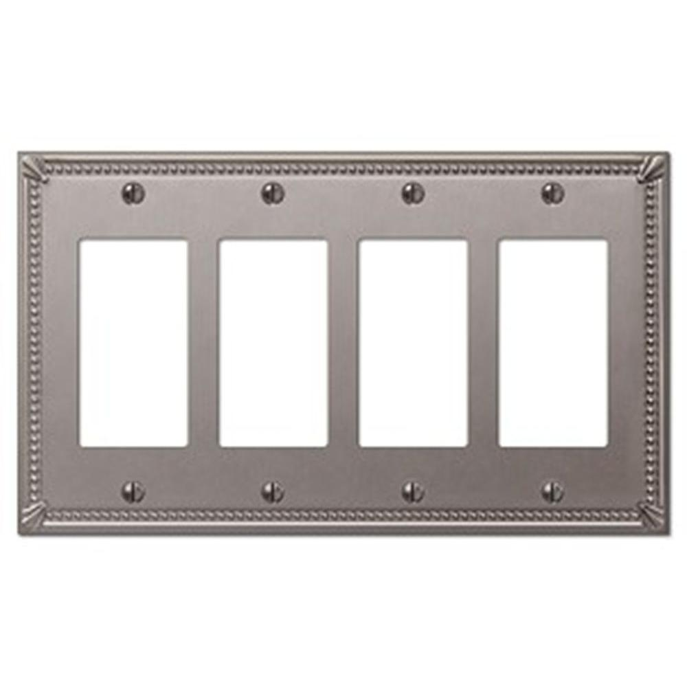 Creative Accents Imperial 4 Decora Wall Plate - Brushed Nickel