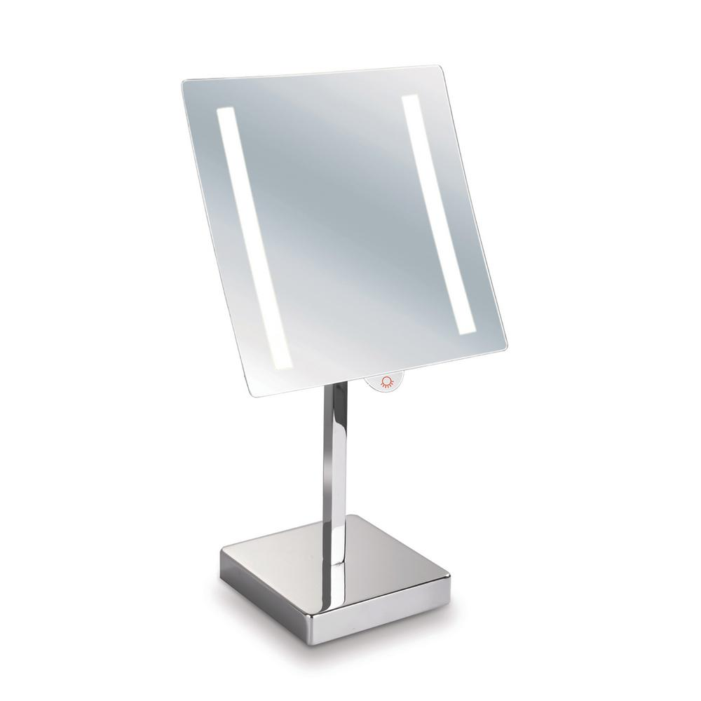 Empire Industries Empire 5X Magnification 8 in. x 8 in. Lighted Makeup Mirror