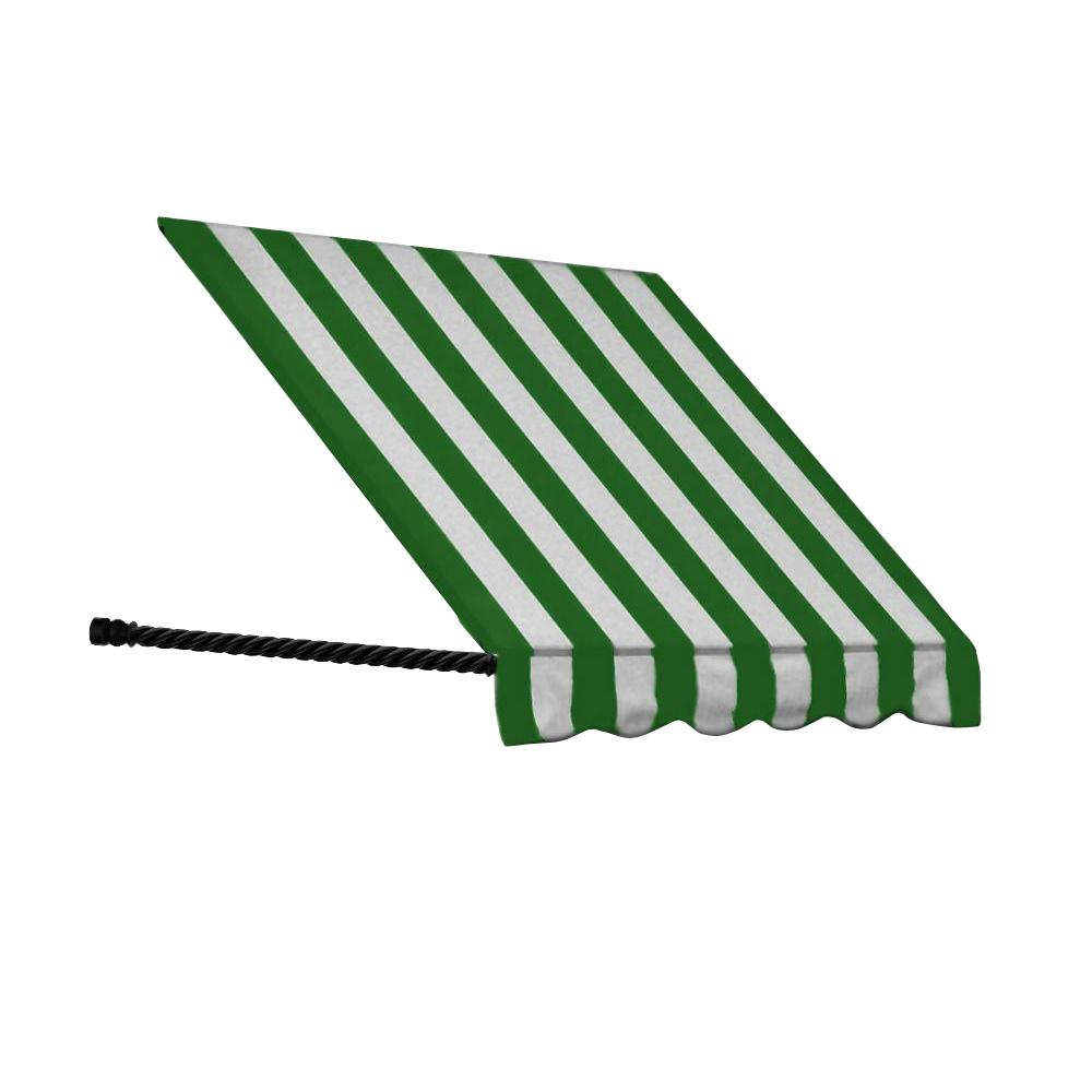 AWNTECH 50 ft. Santa Fe Window/Entry Awning Awning (44 in. H x 36 in. D) in Forest / White Stripe