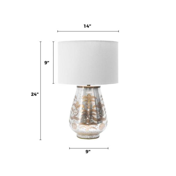 Nuloom Winslow 24 In Silver Contemporary Table Lamp With Shade Sht07aa The Home Depot
