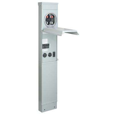 RV Pad Mount Metered Pedestal with 100 Amp 120/240-Volt Panel with 50, 30 and 20 Amp GFCI Receptacle