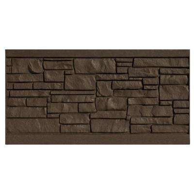 3 ft. H x 6 ft. W EcoStone Dark Brown Composite Fence Panel