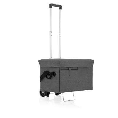 18 Qt. Grey Ottoman Cooler and Seat with Trolley