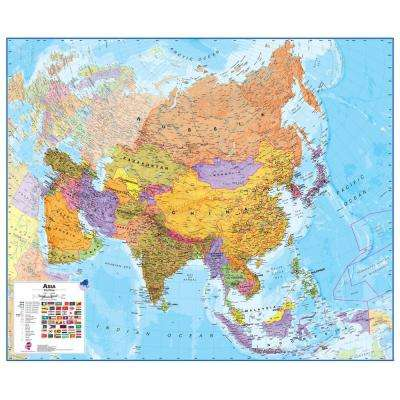 Asia 1:11 Wall Map