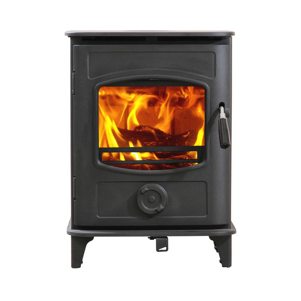 Hi Flame 800 Sq. ft. Small Wood Burning Stove EPA Certified Graphite in Black Paint
