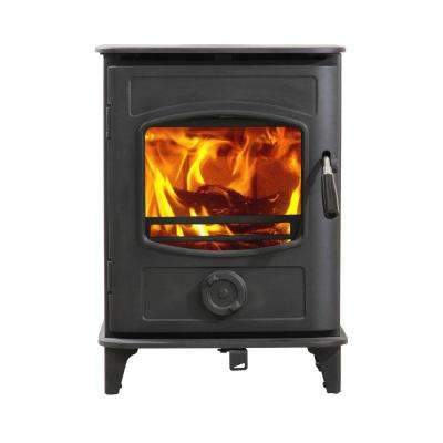 800 Sq. ft. Small Wood Burning Stove EPA Certified Graphite in Black Paint