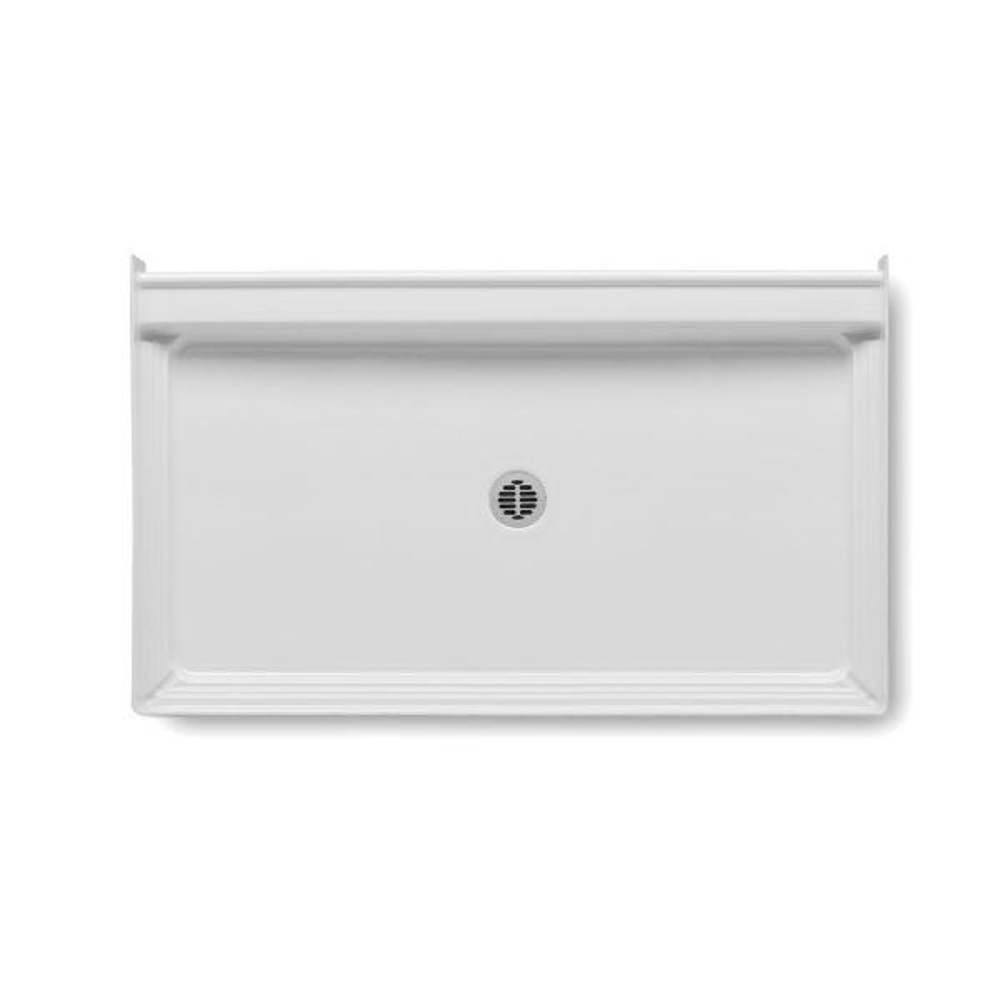 A2 60 in. x 34 in. Single Threshold Center Drain Shower Base in White