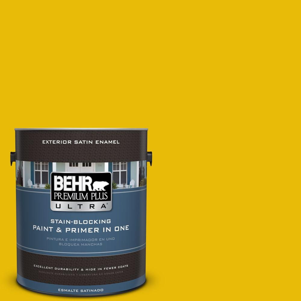 1-gal. #390B-7 Lemon Lime Satin Enamel Exterior Paint