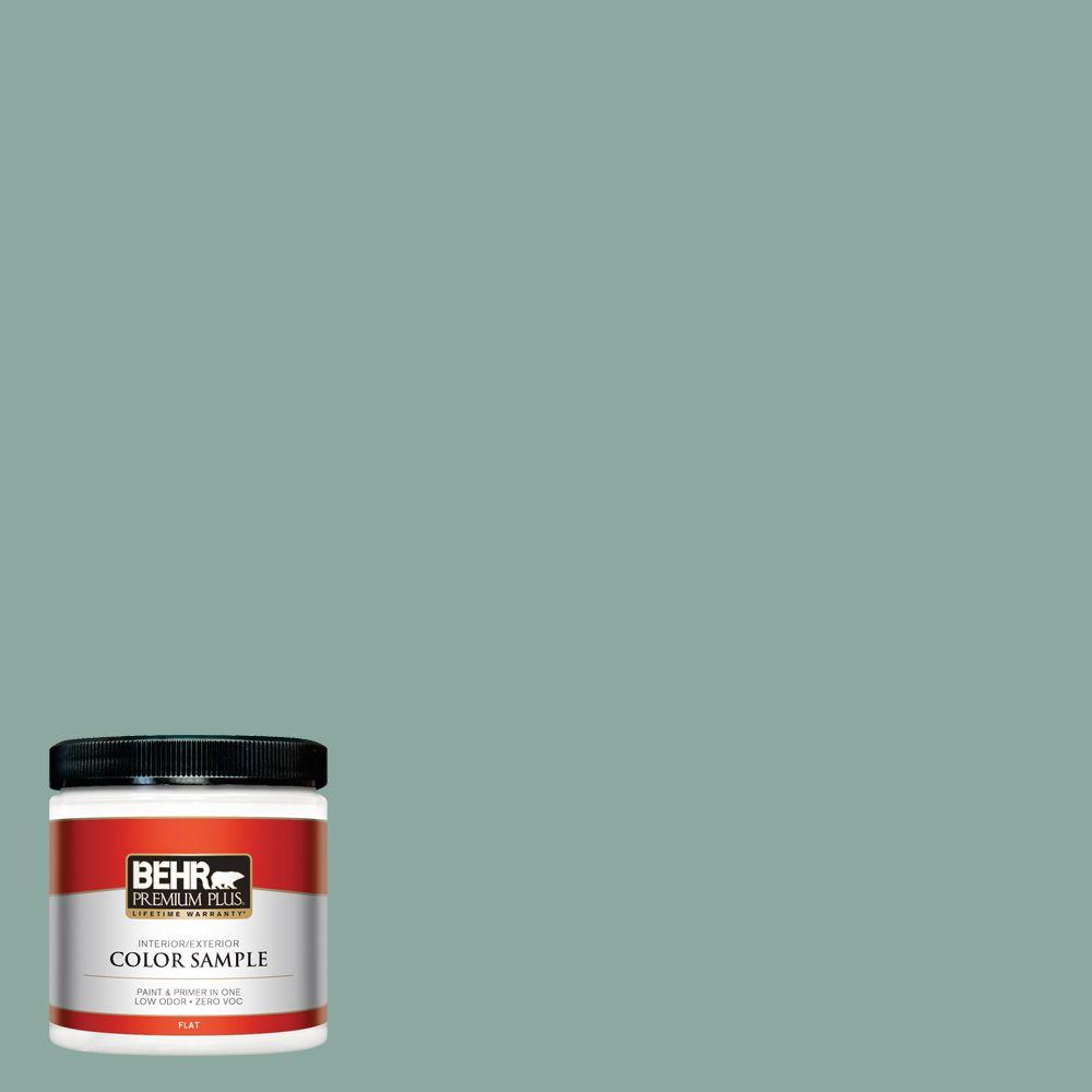 Behr Premium Plus 8 Oz S430 4 Green Meets Blue Flat Interior