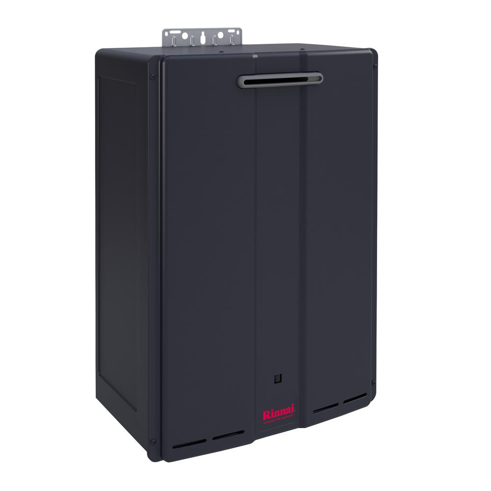 rinnai 9 gpm commercial 160 000 btu propane gas exterior tankless water heater cu160ep the. Black Bedroom Furniture Sets. Home Design Ideas