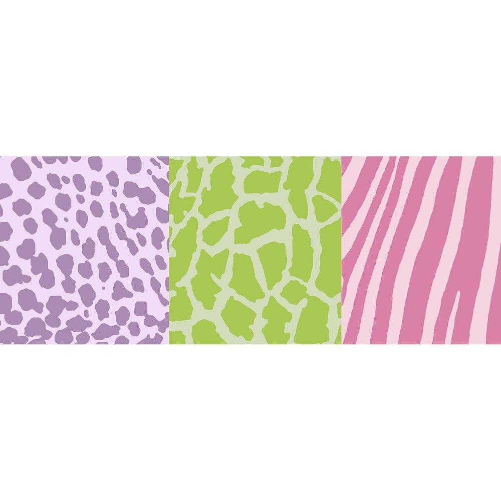Animal Skins Pastel Wallpaper Border Sample