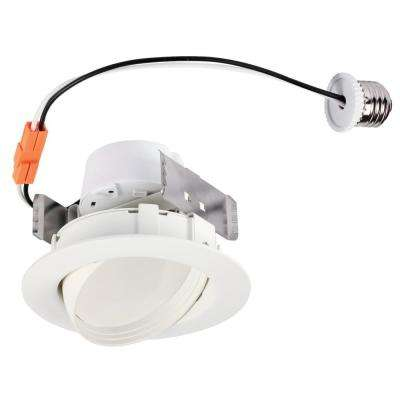 4 in. White Integrated LED Recessed Trim