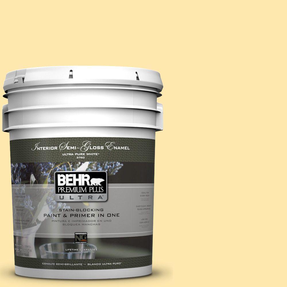 5-gal. #P290-2 Sweet as Honey Semi-Gloss Enamel Interior Paint