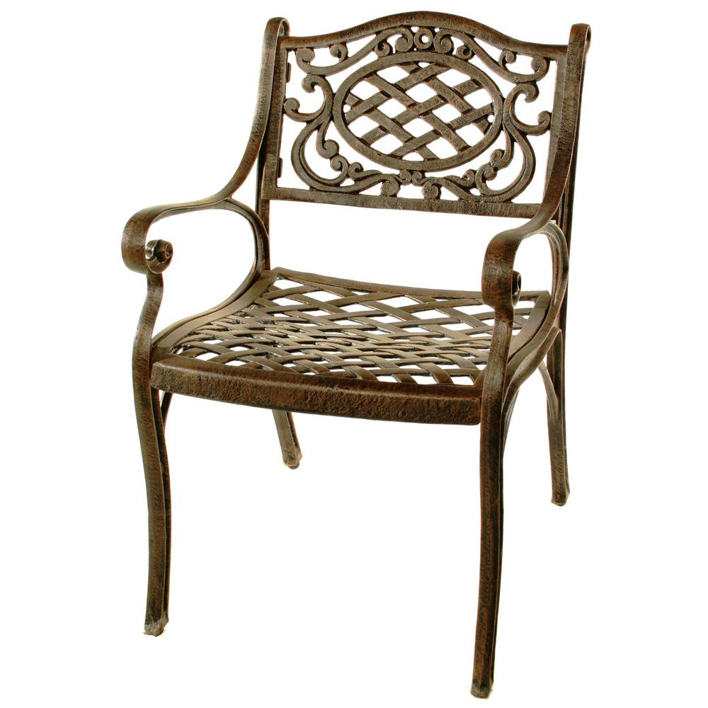 hampton bay nantucket rocking metal outdoor dining chair