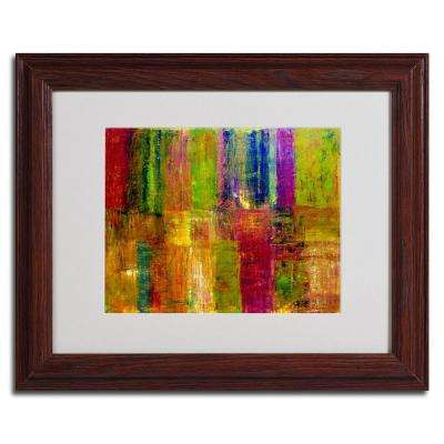 16 in. x 20 in. Color Abstract Dark Wooden Framed Matted Art