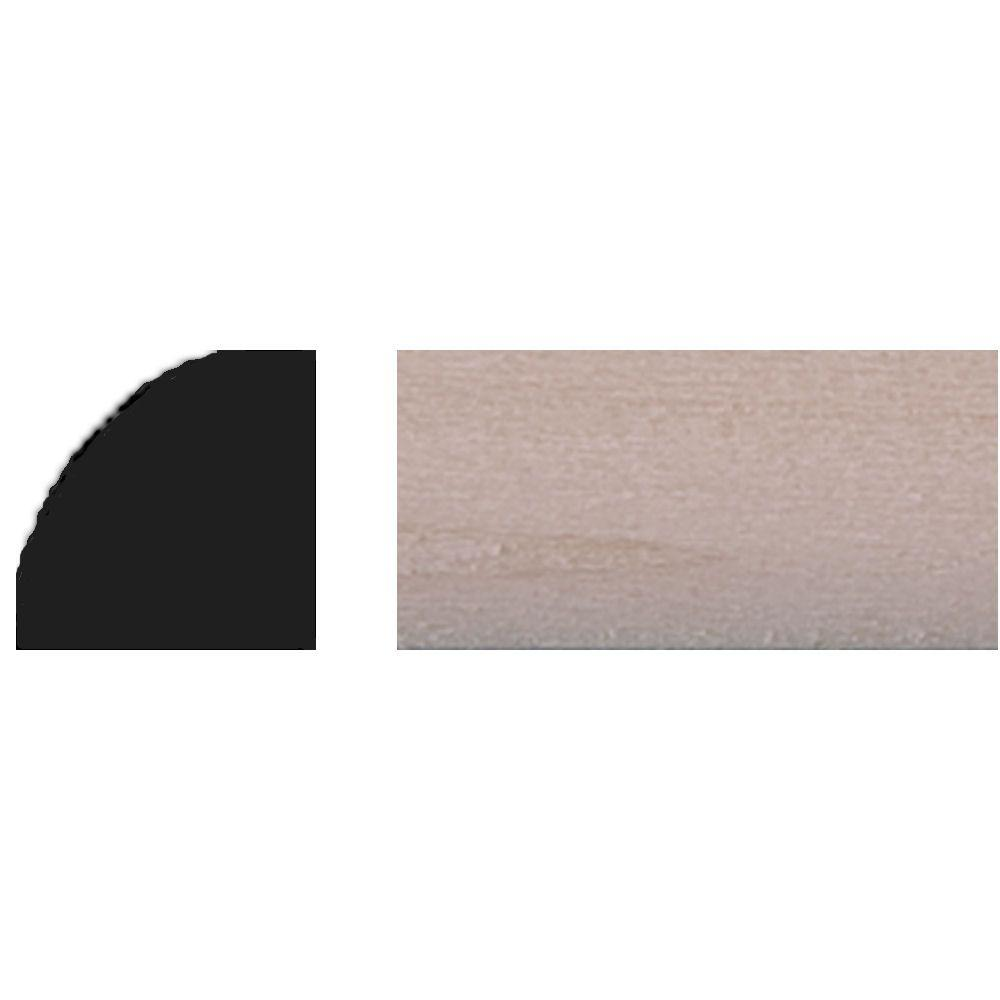 House of Fara 3/8 in. x 3/8 in. x 48 in. Basswood Quarter Round Tinytrim Moulding