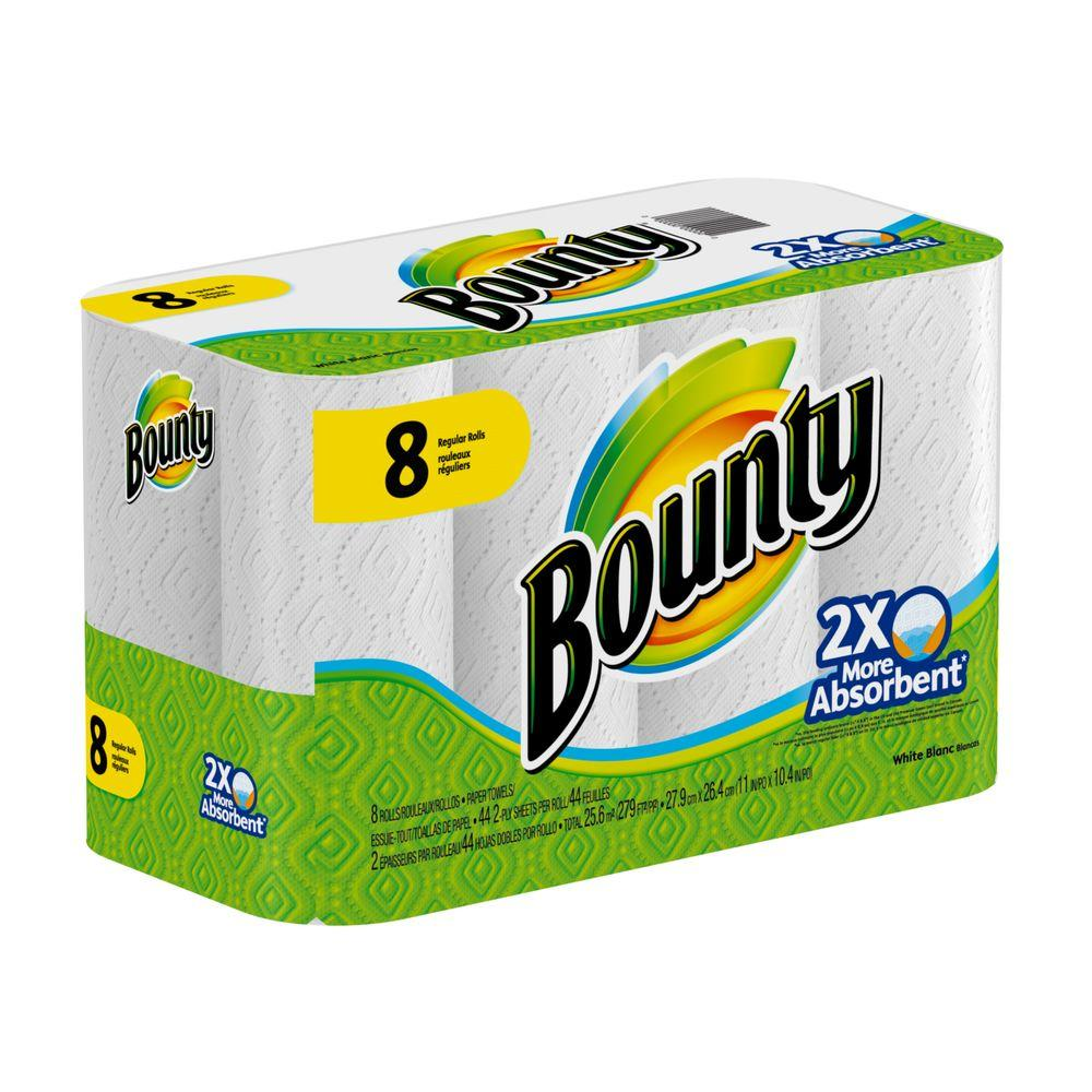 bounty paper towel research Product features pack contains 8 huge rolls of bounty white select-a-size paper towels.