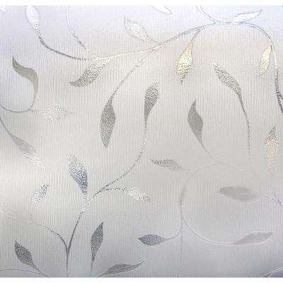 24 in. x 36 in. Etched Leaf Decorative Window Film