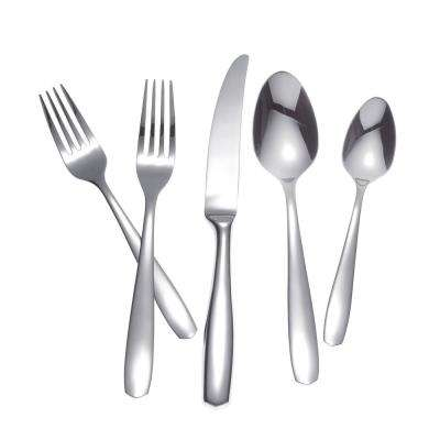 AMALFI 65-Piece Stainless Steel Flatware Set (Hollow Handle Knife)