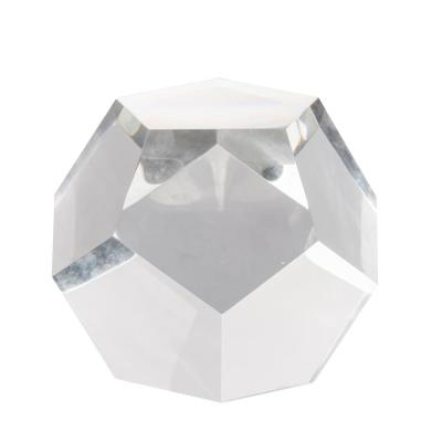 Polygon Crystal Decorative Accent Clear