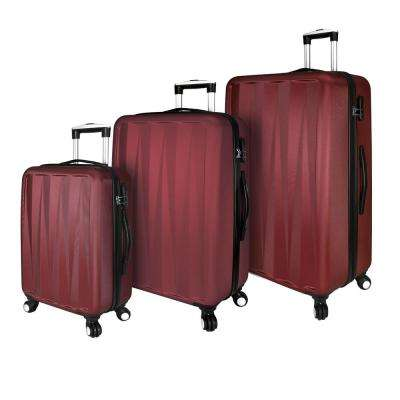 Elite Verdugo Hardside 3-Piece Red Spinner Luggage Set