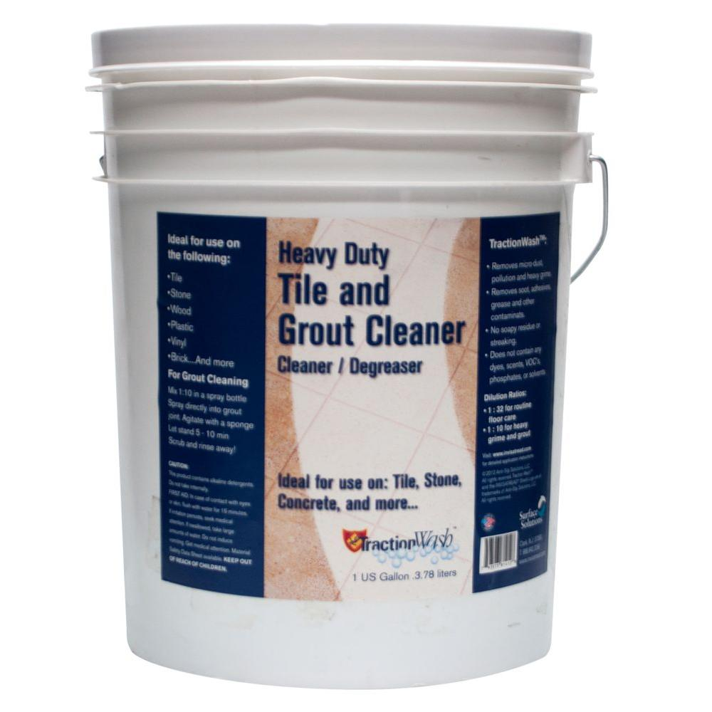 Traction Wash 5 Gal. Heavy Duty Tile And Grout Cleaner