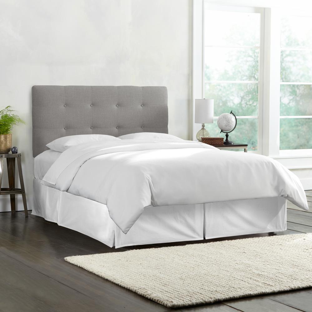 quality design ae01e a4460 Skyline Furniture Roscoe Linen Grey California King Tufted ...